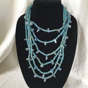 Contemporary Chandelier glass Necklace